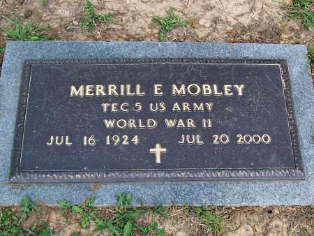 MOBLEY (VETERAN WWII), MERRILL E - Marion County, Arkansas | MERRILL E MOBLEY (VETERAN WWII) - Arkansas Gravestone Photos