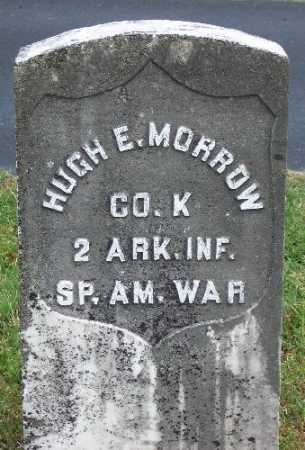 MORROW (VETERAN SAW), HUGH E - Marion County, Arkansas | HUGH E MORROW (VETERAN SAW) - Arkansas Gravestone Photos