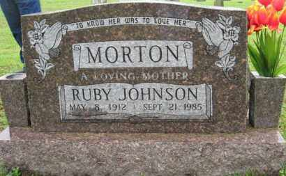 JOHNSON MORTON, RUBY - Marion County, Arkansas | RUBY JOHNSON MORTON - Arkansas Gravestone Photos