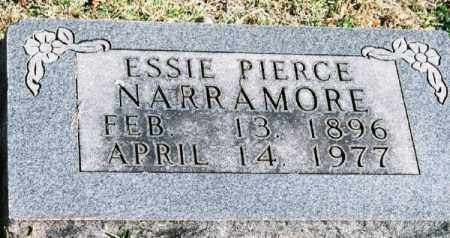 PIERCE NARRAMORE, ESSIE - Marion County, Arkansas | ESSIE PIERCE NARRAMORE - Arkansas Gravestone Photos