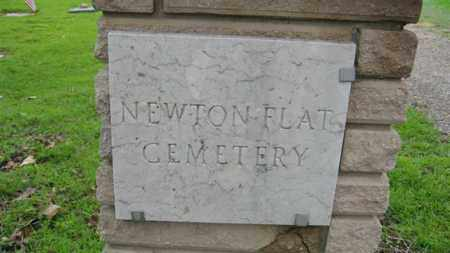 *NEWTON FLAT CEMETERY, LEFT GATEPOST - Marion County, Arkansas | LEFT GATEPOST *NEWTON FLAT CEMETERY - Arkansas Gravestone Photos