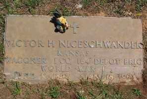 NICESCHWANDER (VETERAN WWI), VICTOR H. - Marion County, Arkansas | VICTOR H. NICESCHWANDER (VETERAN WWI) - Arkansas Gravestone Photos