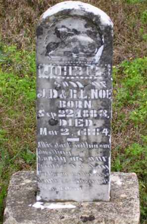 NOE, JOHN M. (SECOND STONE) - Marion County, Arkansas   JOHN M. (SECOND STONE) NOE - Arkansas Gravestone Photos
