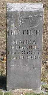NELSON O'DANIEL, MANDA - Marion County, Arkansas | MANDA NELSON O'DANIEL - Arkansas Gravestone Photos