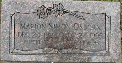 OSBORN, MARION SIMON - Marion County, Arkansas | MARION SIMON OSBORN - Arkansas Gravestone Photos