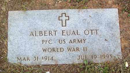 OTT (VETERAN WWII), ALBERT EUAL - Marion County, Arkansas | ALBERT EUAL OTT (VETERAN WWII) - Arkansas Gravestone Photos
