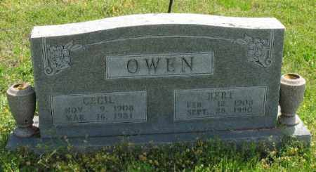 OWEN, CECIL - Marion County, Arkansas | CECIL OWEN - Arkansas Gravestone Photos