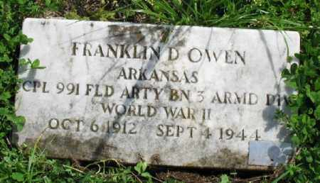OWEN (VETERAN WWII), FRANKLIN D - Marion County, Arkansas | FRANKLIN D OWEN (VETERAN WWII) - Arkansas Gravestone Photos