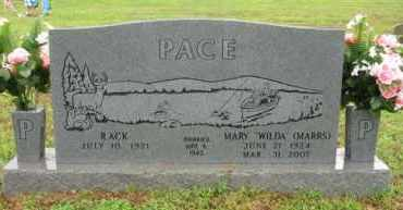 "PACE, MARY ""WILDA"" - Marion County, Arkansas 
