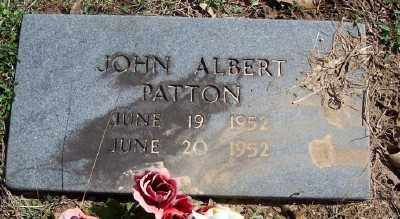 PATTON, JOHN ALBERT - Marion County, Arkansas | JOHN ALBERT PATTON - Arkansas Gravestone Photos