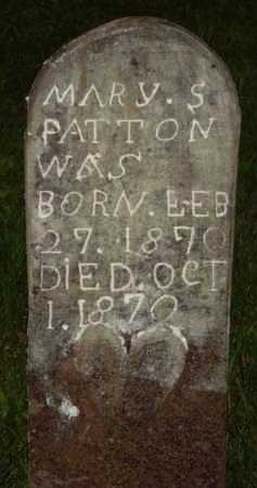 PATTON, MARY S. - Marion County, Arkansas | MARY S. PATTON - Arkansas Gravestone Photos