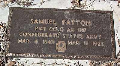 PATTON (VETERAN CSA), SAMUEL - Marion County, Arkansas | SAMUEL PATTON (VETERAN CSA) - Arkansas Gravestone Photos