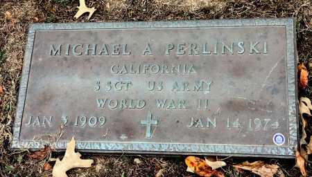 PERLINSKI (VETERAN WWII), MICHAEL A - Marion County, Arkansas | MICHAEL A PERLINSKI (VETERAN WWII) - Arkansas Gravestone Photos