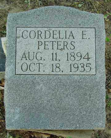 PETERS, CORDELIA E. - Marion County, Arkansas | CORDELIA E. PETERS - Arkansas Gravestone Photos