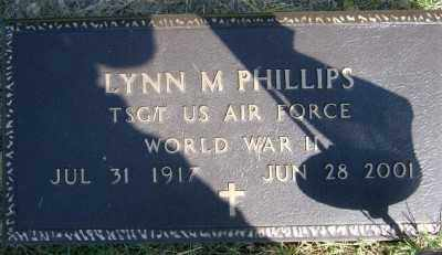 PHILLIPS (VETERAN WWII), LYNN M - Marion County, Arkansas | LYNN M PHILLIPS (VETERAN WWII) - Arkansas Gravestone Photos