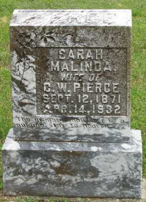 LANGWELL PIERCE, SARAH MALINDA - Marion County, Arkansas | SARAH MALINDA LANGWELL PIERCE - Arkansas Gravestone Photos