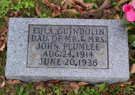 PLUMLEE, EULA GUINDOLIN - Marion County, Arkansas | EULA GUINDOLIN PLUMLEE - Arkansas Gravestone Photos