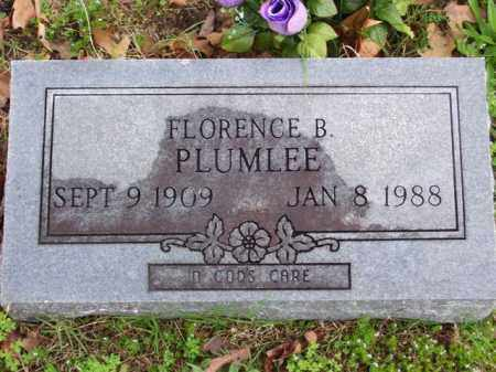 PLUMLEE, FLORENCE BEATRICE - Marion County, Arkansas | FLORENCE BEATRICE PLUMLEE - Arkansas Gravestone Photos