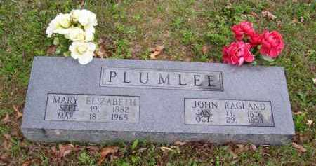 PLUMLEE, JOHN RAGLAND - Marion County, Arkansas | JOHN RAGLAND PLUMLEE - Arkansas Gravestone Photos