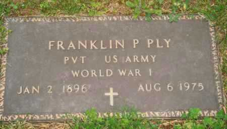 PLY  (VETERAN WWI), FRANKLIN P. - Marion County, Arkansas | FRANKLIN P. PLY  (VETERAN WWI) - Arkansas Gravestone Photos