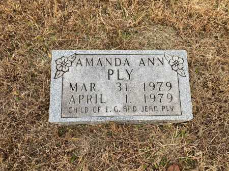 PLY, AMANDA ANN - Marion County, Arkansas | AMANDA ANN PLY - Arkansas Gravestone Photos