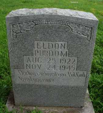 PURDOM, ELDON - Marion County, Arkansas | ELDON PURDOM - Arkansas Gravestone Photos