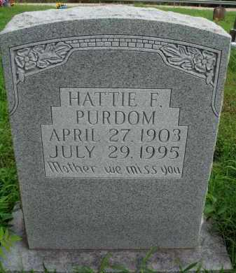PURDOM, HATTIE F. - Marion County, Arkansas | HATTIE F. PURDOM - Arkansas Gravestone Photos