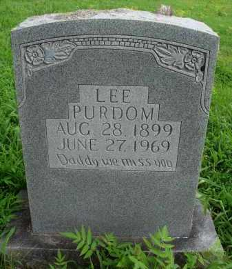 PURDOM, LEE - Marion County, Arkansas | LEE PURDOM - Arkansas Gravestone Photos