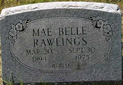 RAWLINGS, MAE BELLE - Marion County, Arkansas | MAE BELLE RAWLINGS - Arkansas Gravestone Photos