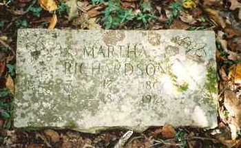 BRADY RICHARDSON, MARTHA JANE - Marion County, Arkansas | MARTHA JANE BRADY RICHARDSON - Arkansas Gravestone Photos