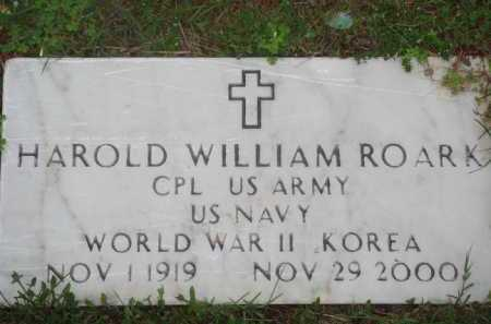 ROARK (VETERAN 2 WARS), HAROLD WILLIAM - Marion County, Arkansas   HAROLD WILLIAM ROARK (VETERAN 2 WARS) - Arkansas Gravestone Photos