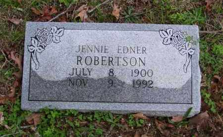 ROBERTSON (2), JENNIE EDNER - Marion County, Arkansas | JENNIE EDNER ROBERTSON (2) - Arkansas Gravestone Photos