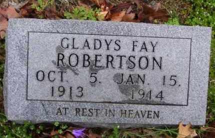 ROBERTSON, GLADYS FAY - Marion County, Arkansas | GLADYS FAY ROBERTSON - Arkansas Gravestone Photos