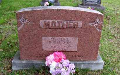 PLUMLEE ROBERTSON, MYRTLE L. - Marion County, Arkansas | MYRTLE L. PLUMLEE ROBERTSON - Arkansas Gravestone Photos