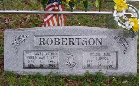 "ROBERTSON (VETERAN WWI), JAMES ARTHUR ""JIM"" - Marion County, Arkansas 