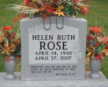 ROSE, HELEN RUTH - Marion County, Arkansas | HELEN RUTH ROSE - Arkansas Gravestone Photos