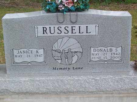RUSSELL, DONALD S. - Marion County, Arkansas | DONALD S. RUSSELL - Arkansas Gravestone Photos