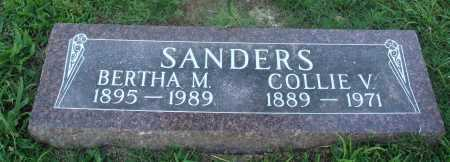 SANDERS, COLLIE V. - Marion County, Arkansas | COLLIE V. SANDERS - Arkansas Gravestone Photos