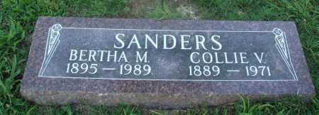 SANDERS, BERTHA M. - Marion County, Arkansas | BERTHA M. SANDERS - Arkansas Gravestone Photos