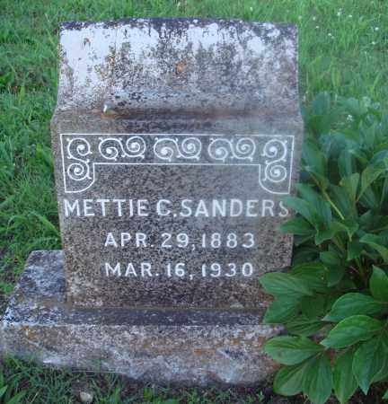 SANDERS, METTIE C. - Marion County, Arkansas | METTIE C. SANDERS - Arkansas Gravestone Photos