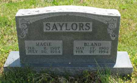 SAYLORS, BLAND - Marion County, Arkansas | BLAND SAYLORS - Arkansas Gravestone Photos