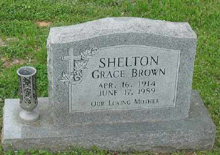 BROWN SHELTON, GRACE - Marion County, Arkansas | GRACE BROWN SHELTON - Arkansas Gravestone Photos