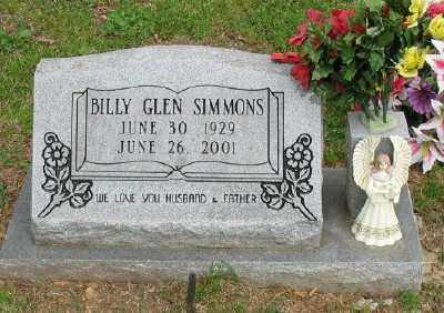 SIMMONS, BILLY GLEN - Marion County, Arkansas | BILLY GLEN SIMMONS - Arkansas Gravestone Photos
