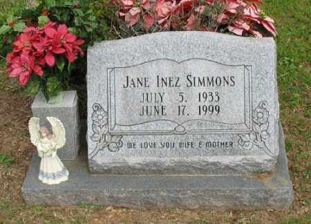 SIMMONS, JANE INEZ - Marion County, Arkansas | JANE INEZ SIMMONS - Arkansas Gravestone Photos