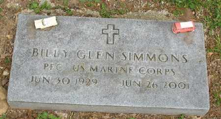 SIMMONS (VETERAN), BILLY GENE - Marion County, Arkansas | BILLY GENE SIMMONS (VETERAN) - Arkansas Gravestone Photos