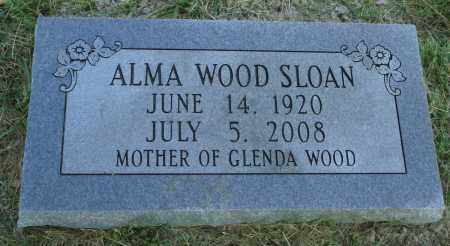 WOOD SLOAN, ALMA - Marion County, Arkansas | ALMA WOOD SLOAN - Arkansas Gravestone Photos
