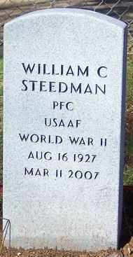 STEEDMAN (VETERAN WWII), WILLIAM C. - Marion County, Arkansas | WILLIAM C. STEEDMAN (VETERAN WWII) - Arkansas Gravestone Photos
