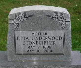 STONECIPHER, ETTA - Marion County, Arkansas | ETTA STONECIPHER - Arkansas Gravestone Photos
