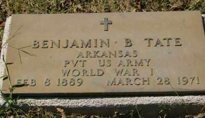 TATE (VETERAN WWI), BENJAMIN B - Marion County, Arkansas | BENJAMIN B TATE (VETERAN WWI) - Arkansas Gravestone Photos