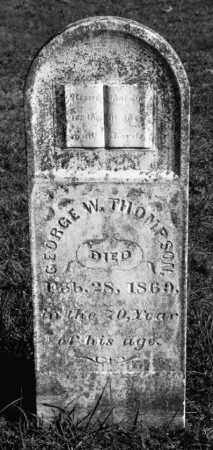 THOMPSON (VETERAN 1812), GEORGE W - Marion County, Arkansas | GEORGE W THOMPSON (VETERAN 1812) - Arkansas Gravestone Photos